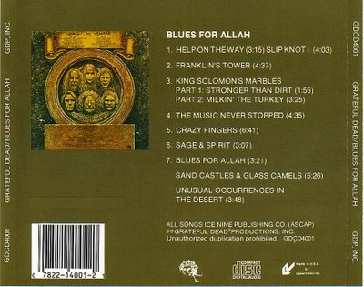 grateful dead - blues for allah - back